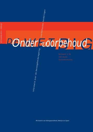 herdruk VWS 'Onder voorbehoud' - NIP