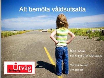 Att möta och samtala med våldsutsatta - Utväg Skaraborg