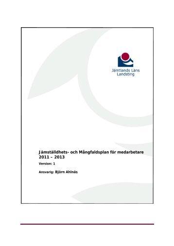 Jämställdhets- och Mångfaldsplan för medarbetare 2011 – 2013