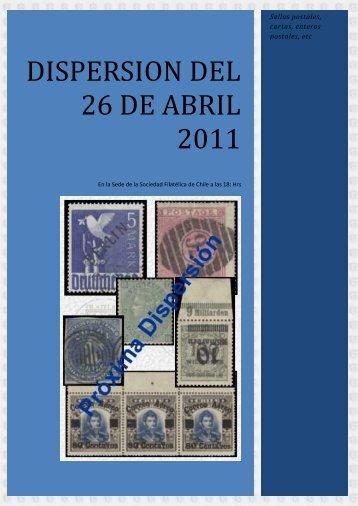dispersion del 26 de abril 2011 - Chilecollector