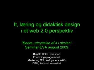 It, læring og didaktisk design i et web 2.0 perspektiv