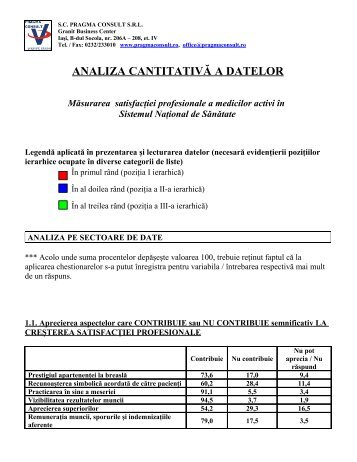 ANALIZA CANTITATIVĂ A DATELOR Măsurarea ... - EMedic.ro