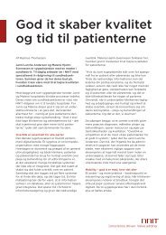 ARTIKEL: God it skaber kvalitet og tid til patienterne - NNIT