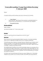 Referat generalforsamling i Langå Sportsfiskerforening 2009