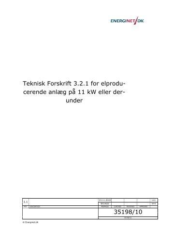 Teknisk Forskrift 3.2.1 for elprodu- cerende anlæg på ... - VIND & SOL