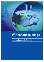 Wirtschaftsspionage – Information und Prävention - Bayerisches ...