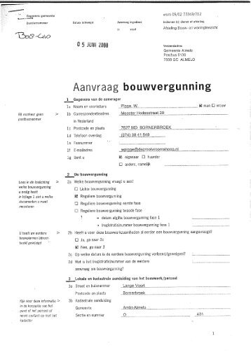 Aanvraag bouwvergunning - Gemeente Almelo