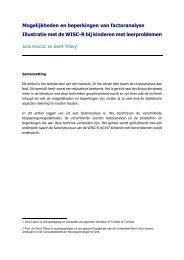 (2003). Mogelijkheden en beperkingen van factoranalyse - Sig