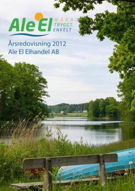 Årsredovisning 2012 Ale El Elhandel AB