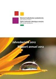 Jahresbericht 2012 Rapport annuel 2012 - cathberne.ch