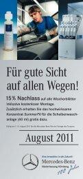 Für gute Sicht auf allen Wegen! - Mercedes-Benz Niederlassung ...