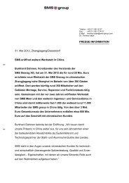 PRESSE-INFORMATION 31. Mai 2012, Zhangjiagang ... - SMS group