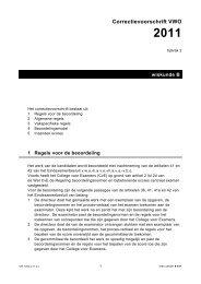 Correctievoorschrift VWO 2011