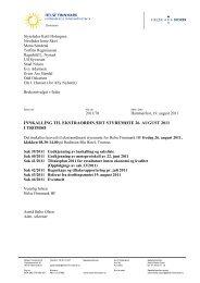 Innkalling med saksliste styremøte 26 august 2011 ... - Helse Finnmark