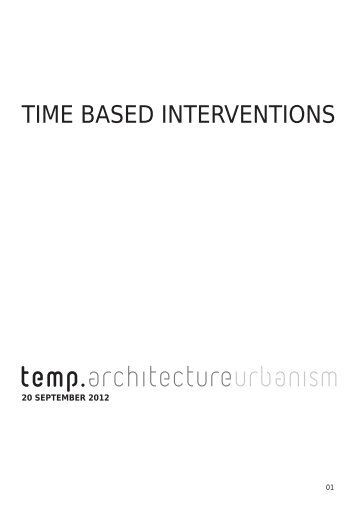 TIME BASED INTERVENTIONS - Slotcongres Creative City Challenge