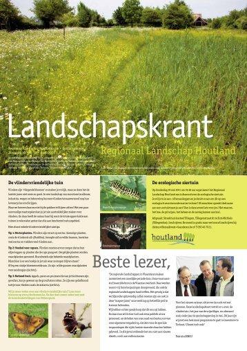 Beste lezer, - Regionaal Landschap Houtland