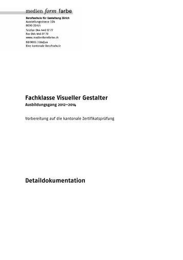 Fachklasse Visueller Gestalter - Berufsschule für Gestaltung Zürich