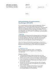 Verksamhetsplan för gemensamma förvaltningen 2012-2014
