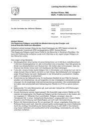 Landtag Nordrhein-Westfalen Norbert Römer, MdL Stellv ...