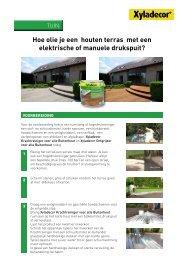 Hoe olie je een houten terras met een elektrische of ... - Xyladecor