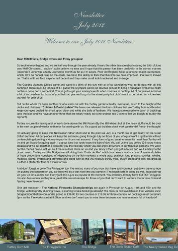 Newsletter July 2012 - Brunninghost.com
