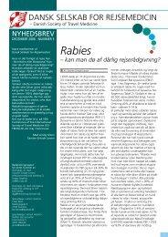 Nyhedsbrev 5: december 2006 - Tema: Rabies - Dansk selskab for ...