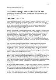 Tobaksfritt landsting i Jämtlands län fram till 2010 - Jämtlands läns ...