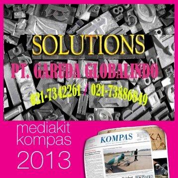 MEDIA KIT Koran Kompas 2013 - Agen Biro Iklan Kompas Resmi