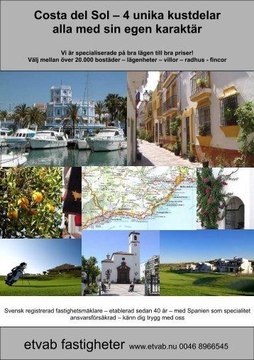 Costa del Sol – 4 unika kustdelar alla med sin egen karaktär - Etvab
