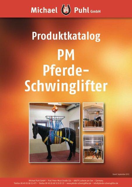 Der PM Pferde-Schwinglifter Version 2012