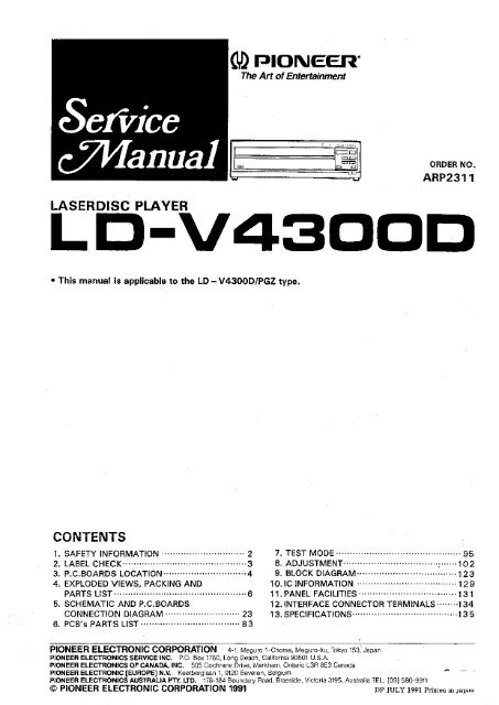 Pioneer LD-V4300D - The Dragon's Lair Project