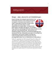 Läs hela rapporten om Norges ekonomi och konkurrenskraft.