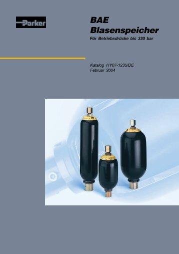 BAE Blasenspeicher - Siebert Hydraulik & Pneumatik