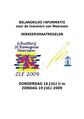 DONDERDAG 16 JULI t/m ZONDAG 19 JULI 2009 - Gemeente ...