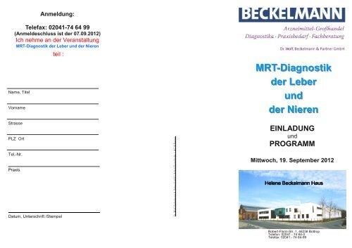 MRT der Leber Niere 09 2012 - Dr. Wolf, Beckelmann & Partner GmbH