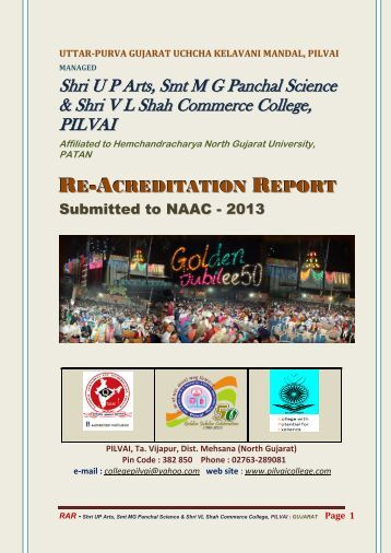 Re-Acreditation Reports Submitted to NAAC - Pilvai College of Arts ...