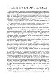 1. goethe såsom esoteriker - Henry T. Laurency Publishing Foundation