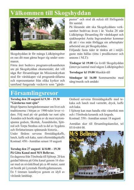Nr 2 2009 - Lidköpings Församling