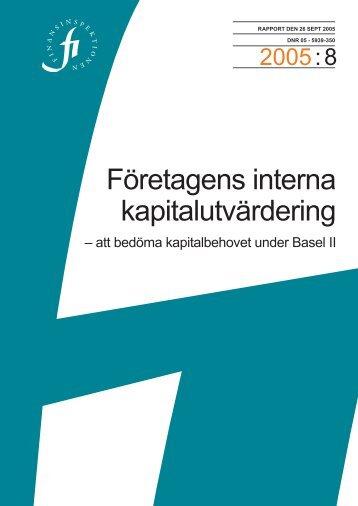 Rapport Basel II - Finansinspektionen