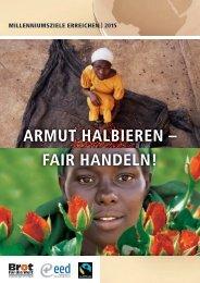 Armut halbieren. Fair handeln - monika hoegen
