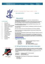 Nieuwsbrief Agenda mei 2013 27-28 april Kampioen der beide ...
