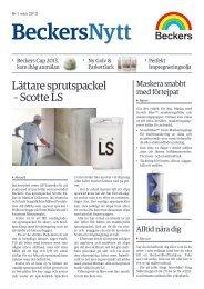 Beckers Nytt nr1 2013