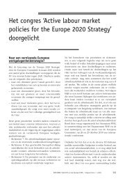 'Active labour market policies for the Europe 2020 Strategy ... - Acco