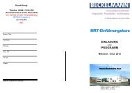 MRT-Einführungskurs - Dr. Wolf, Beckelmann & Partner GmbH
