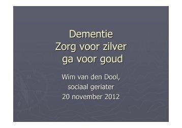 Presentatie Wim van den Dool - ZorgImpuls