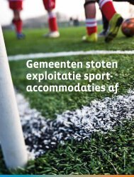 Download het hele artikel uit Sport en gemeenten (pdf). - Hospitality ...