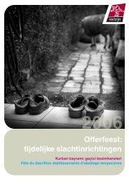 Offerfeest: tijdelijke slachtinrichtingen - Provincie Limburg