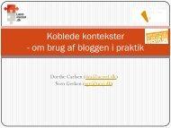Koblede kontekster - om brug af bloggen i praktik - Læremiddel.dk