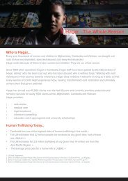 Church Partnership Flyer - Hagar International