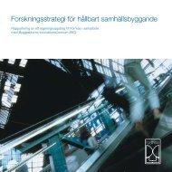 Forskningsstrategi för hållbart samhällsbyggande - Formas